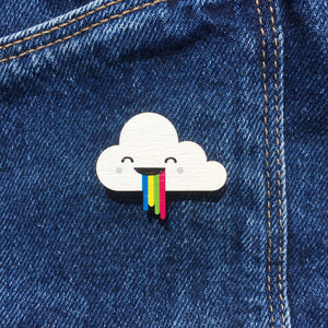 Cloud and Rainbow Pin - Oddly Wild