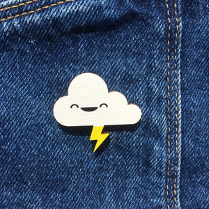 Cloud and Lightning Pin - Oddly Wild