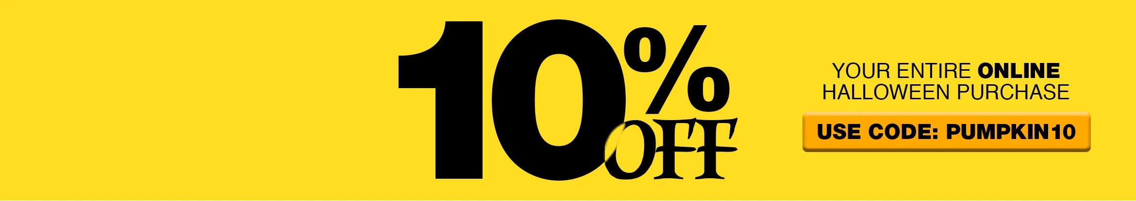 10 Percent Off Halloween Collection