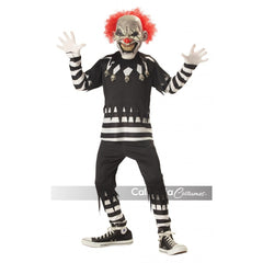 Creepy Clown Boy's Costume