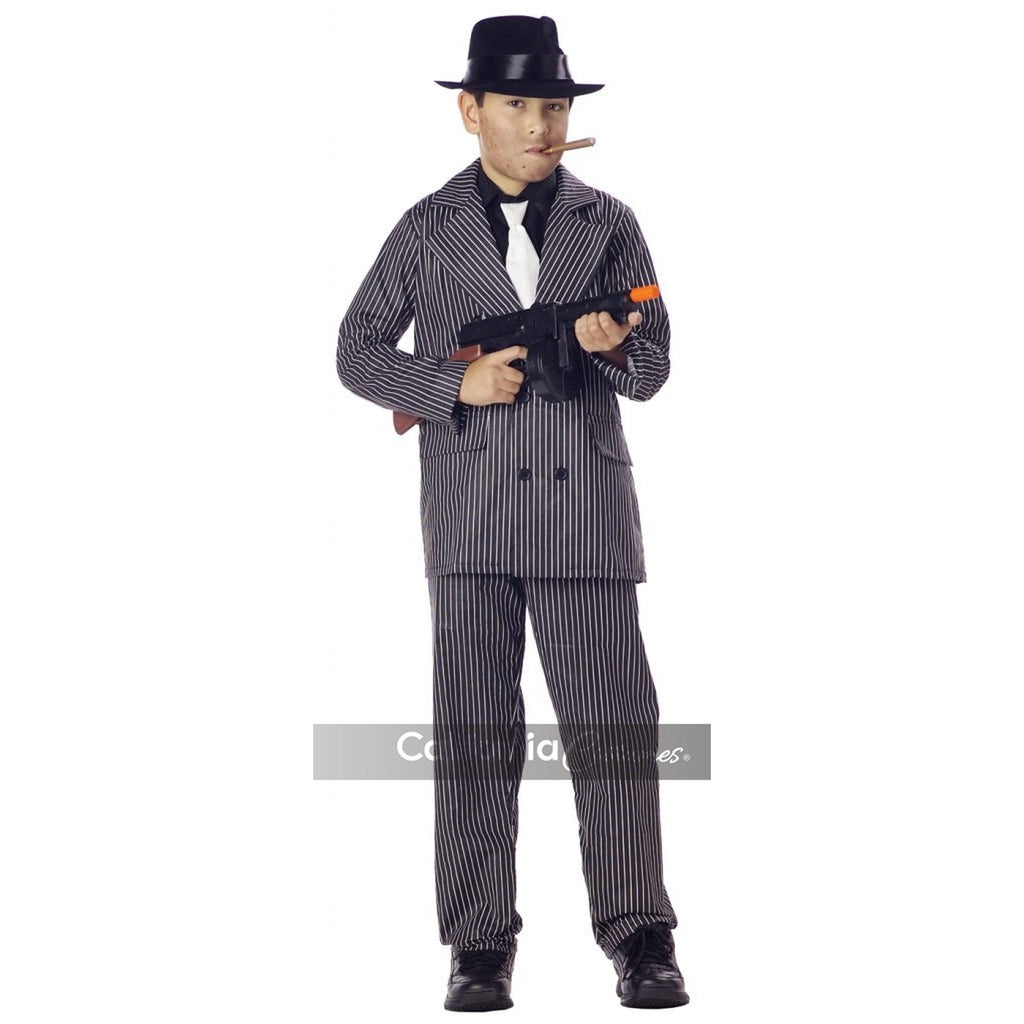 Halloween Costume 398.Gangster Boy S Costume