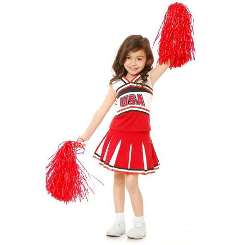 Team U.S.A Cheerleader Girl's Costume