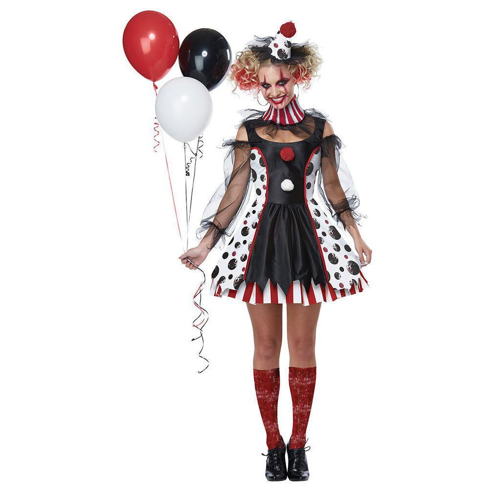 Twisted Clown Women's Costume