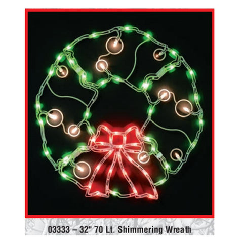 "32"" Shimmering Wreath"