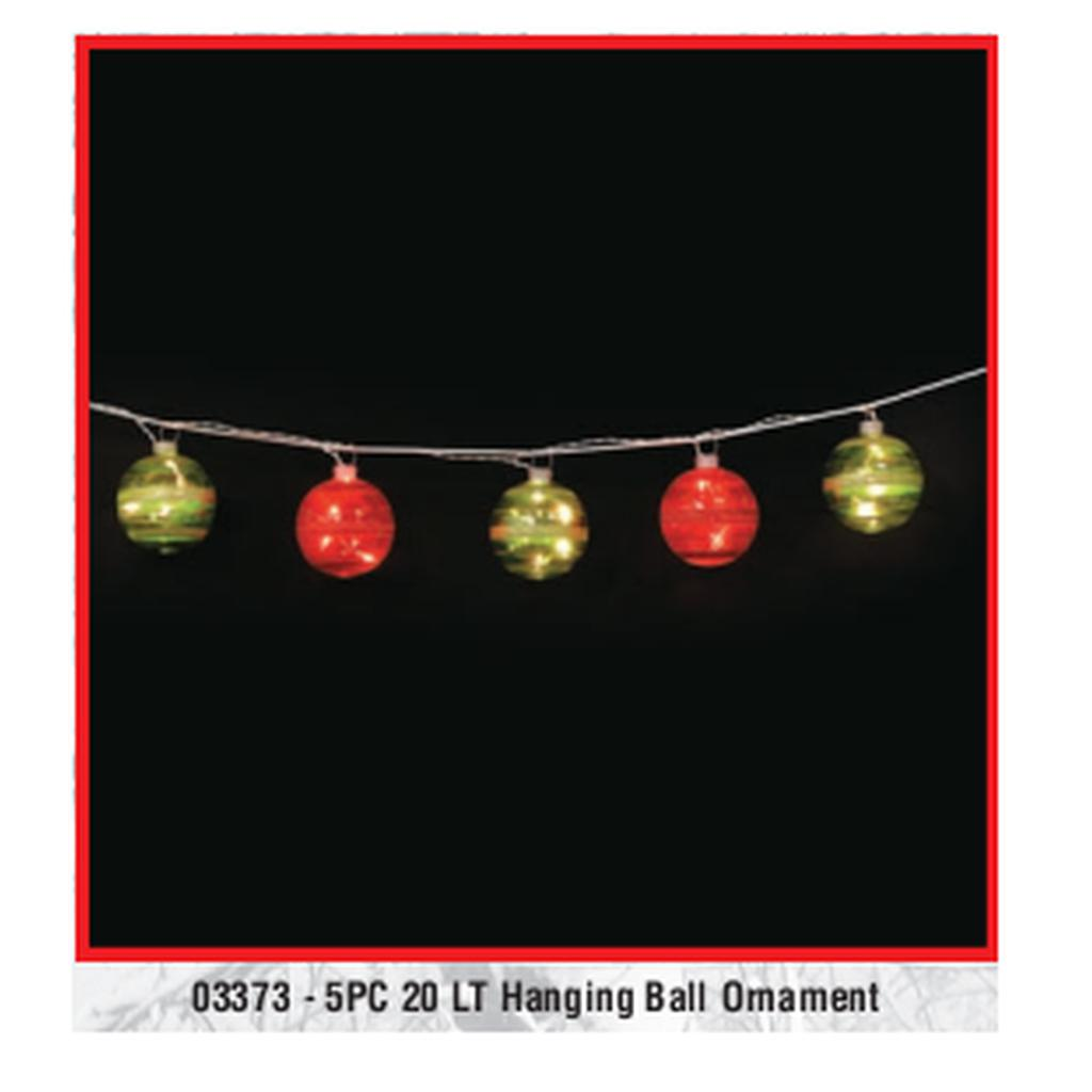 5 Piece Hanging Ball Ornament