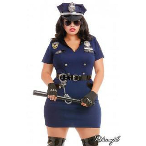 Officer Pat U Down Plus Women's Costume