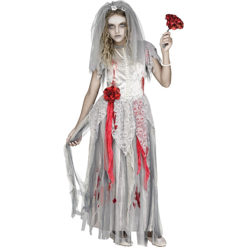 Zombie Bride Girl's Costume