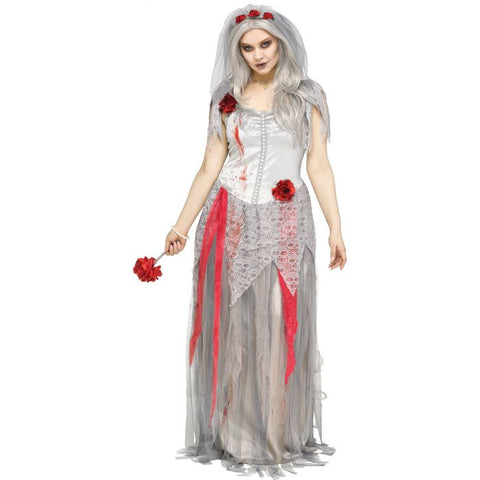 Zombie Bride Plus Women's Costume