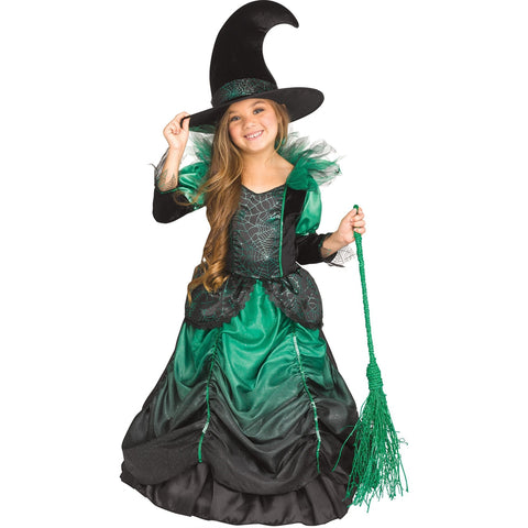 Emerald Witch Toddler Girl's Costume