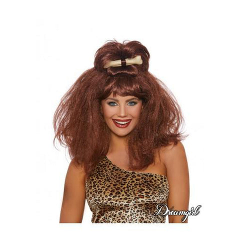 Cave Girl With Bone Wig