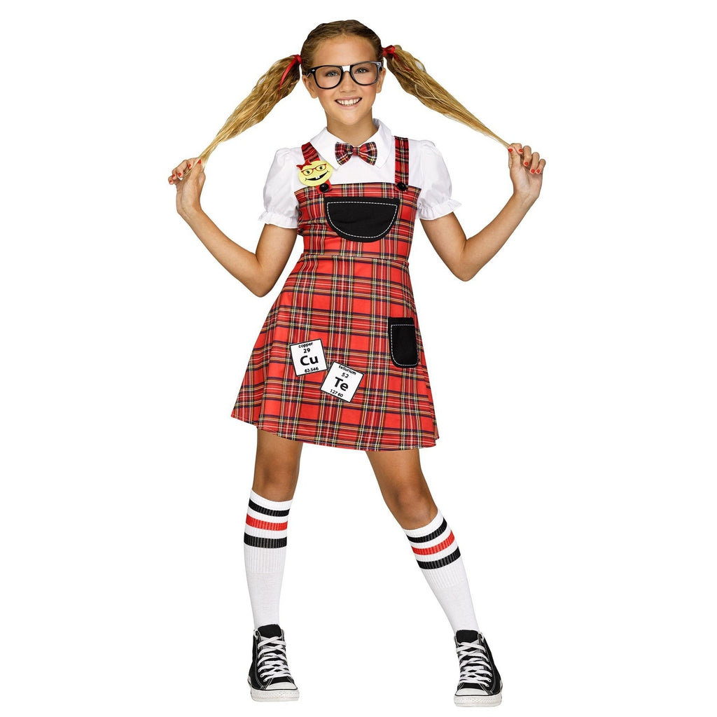 Head Of The Class Nerd Girl's Costume