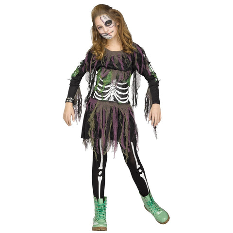 3D Skeleton Teen Girl's Costume