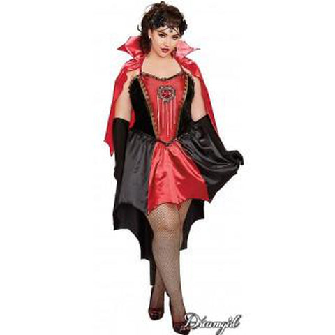 Drop Dead Beautiful Vampiress Plus Size Costume