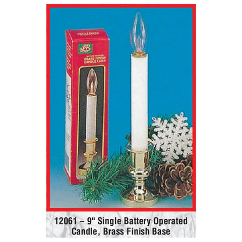 "9"" Single Battery Operated Candle"