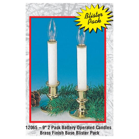 "9"" Single Battery Operated Candle 2 Pack"