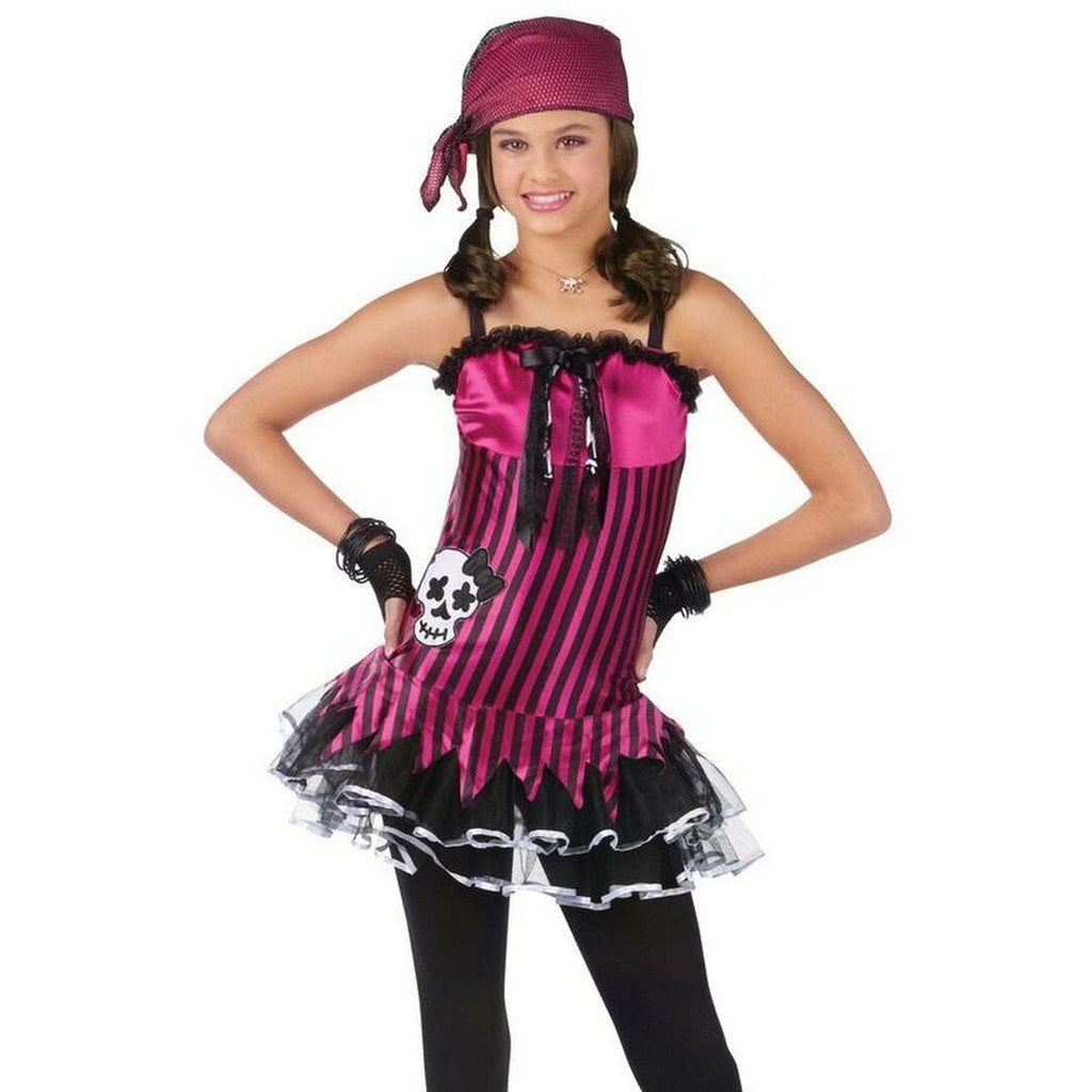 Rockin Skull Pirate Girl's Costume