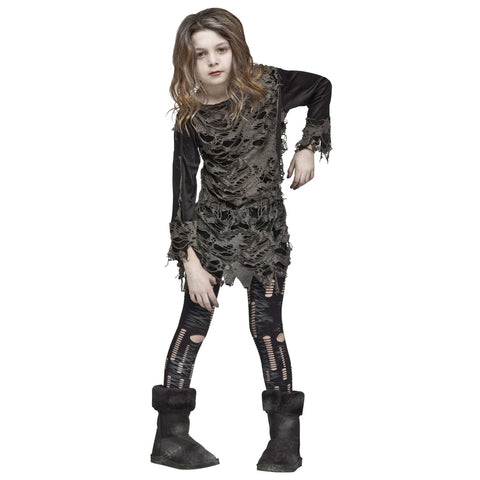 Walking Zombie Girl's Costume