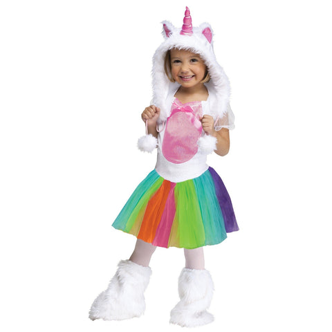 Vivid Unicorn Toddler Costume