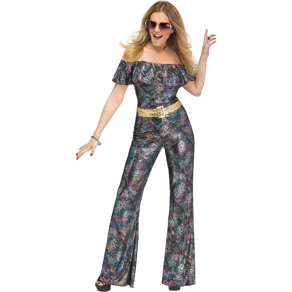 Disco Queen Jumpsuit Women's Costume