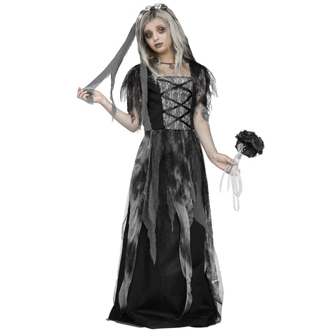 Cemetery Bride Girl's Costume