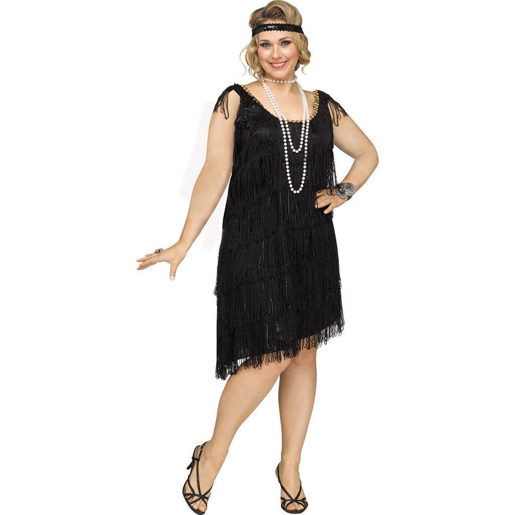 Black Flapper Plus Size Costume