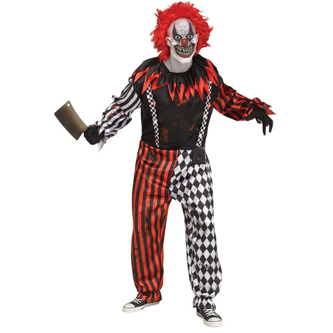 Freak Show Clown W/Lights & Sound Men's Costume