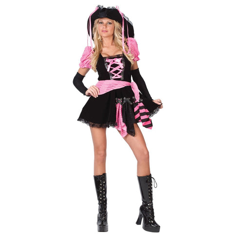 Pink Punk Pirate Teen Costume