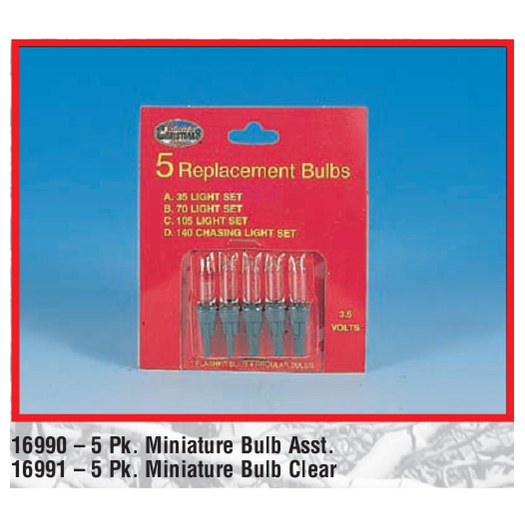 5 Pack Mini Bulb Replacements