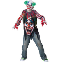 Big Top Terror Clown Boy's Costume