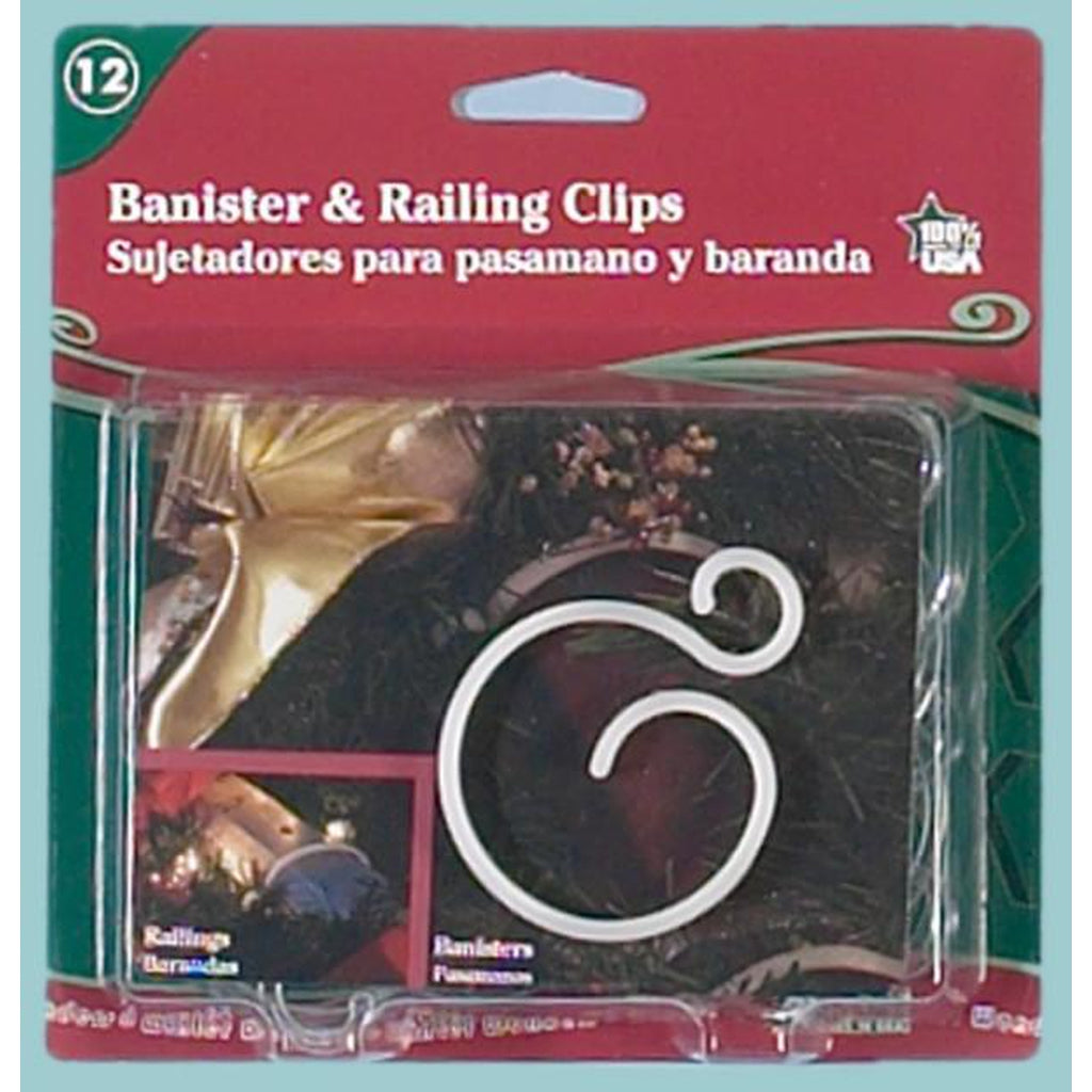 Banister and Railing Clips, 8 Pack