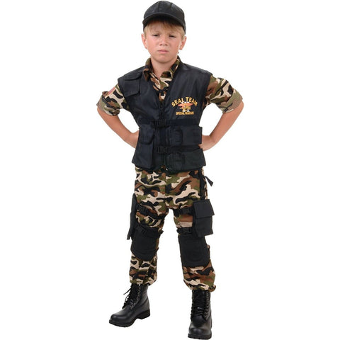 Deluxe Navy Seal Team Boy's Costume
