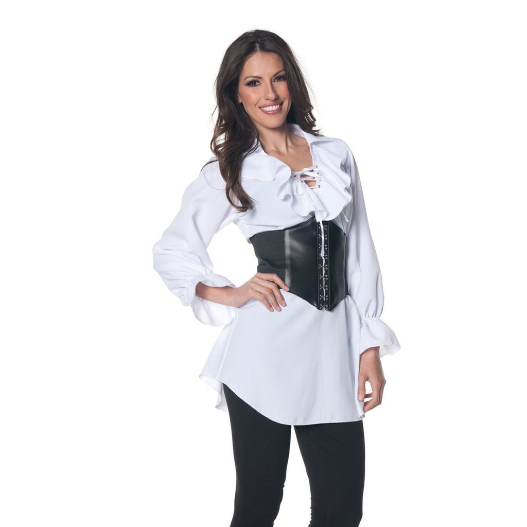 Pirate Ruffled Front Blouse