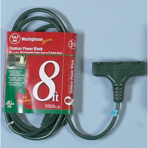 8' Power Block Extension Cord