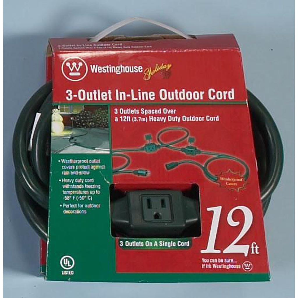 3 Outlet In-Line Outdoor Extension Cord