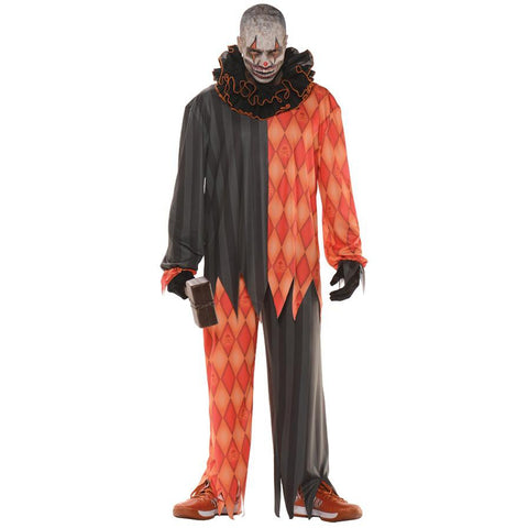 Evil Clown Plus Men's Costume