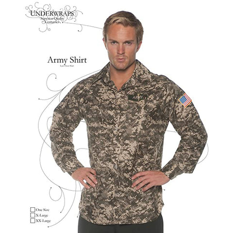 Army Shirt Men's Plus Costume