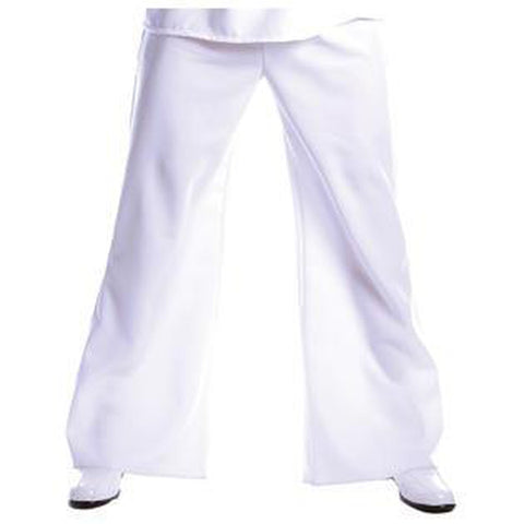 White Bell Bottom Pants Plus Men's Costume