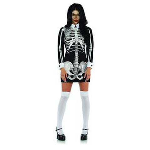 Skeleton Bones X-Ray Dress Women's Costume