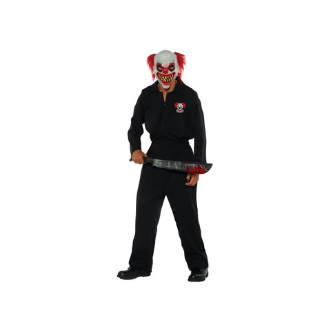 Killer Klown Boiler Suit Men's Plus Size Costume