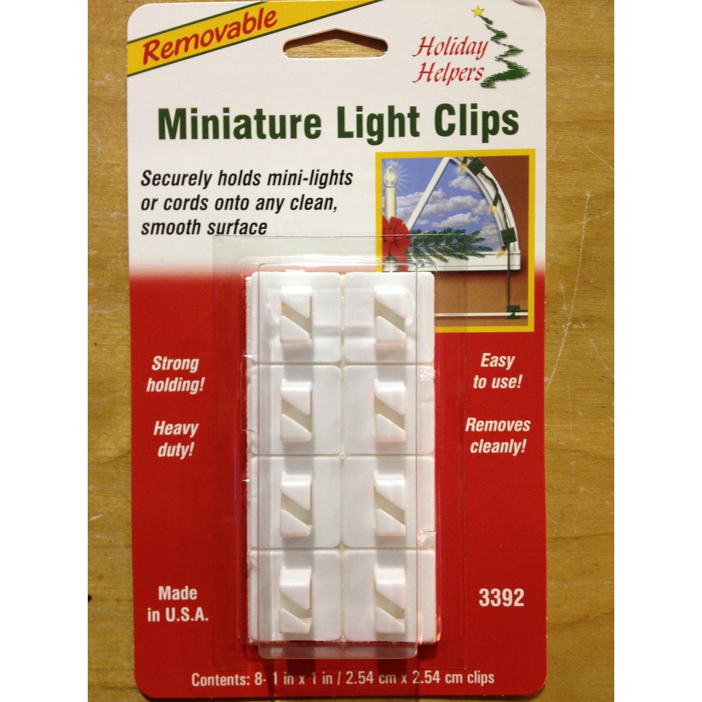 Miniature Light Clips, 8 Pack