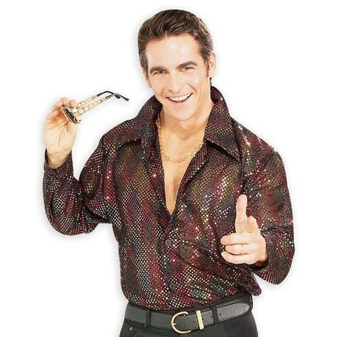 Sequin Disco Shirt Men's Costume