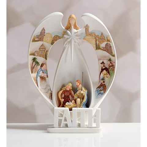 LED Angel Nativity