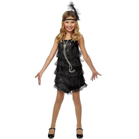 Black Flapper Girl's Costume