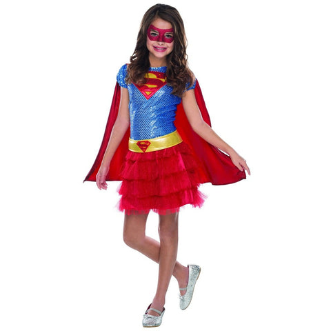 Supergirl Tutu Dress Girl's Costume