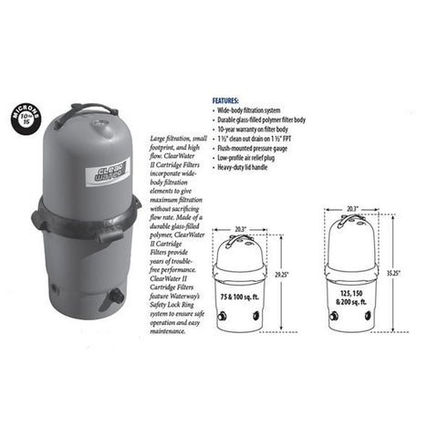 75 SF CLEARWATER II CARTRIDGE FILTER