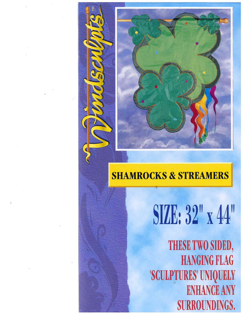 Shamrocks & Streamers Flag