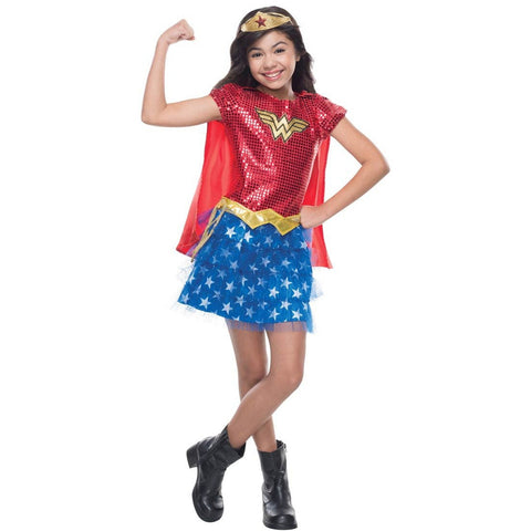 Wonder Woman Tutu Dress Girl's Costume
