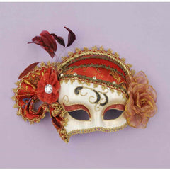 Red & Gold Charlston Eye Mask