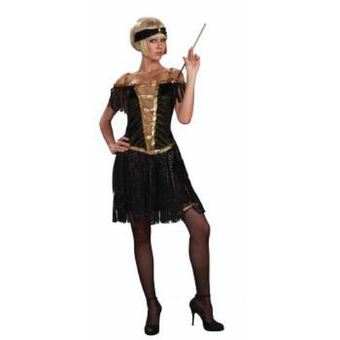 Golden Glamour Flapper Women's Costume