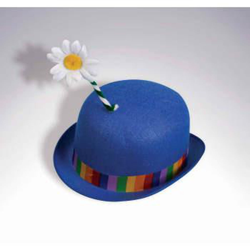Clown Derby Hat w/ Flower